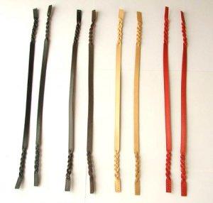 画像1: 本革スリム編みこみタイプ 全4色
