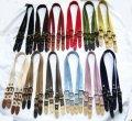 アクリル製クラシック 本革ハトメ尾錠付セミショルダー (3段階調節) 全12色